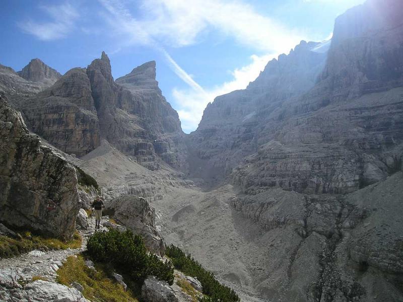 trekking nelle dolomiti rifugio tuckett